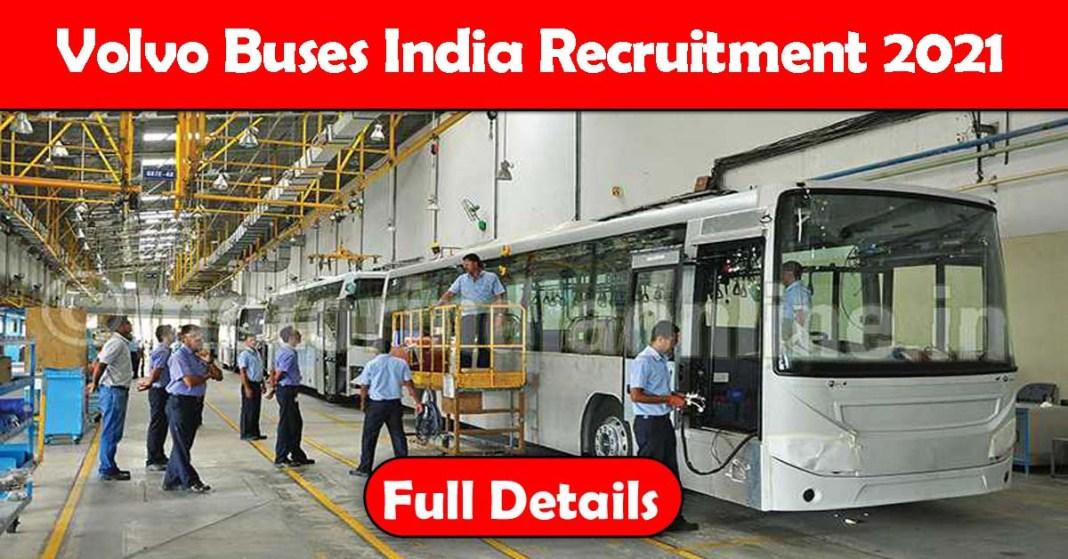 Volvo Buses India Recruitment 2021