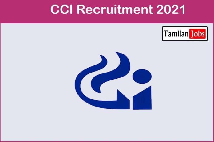 CCI Recruitment 2021 Out – Apply Offline 9 Deputy Director General Jobs