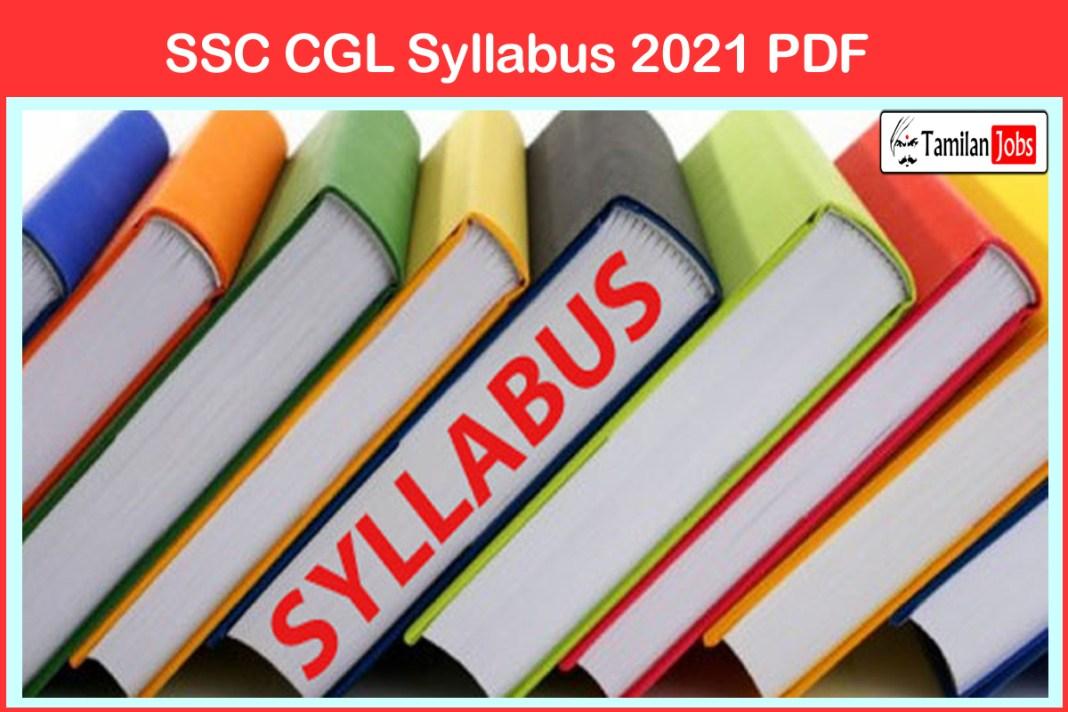 SSC CGL Syllabus 2021 PDF