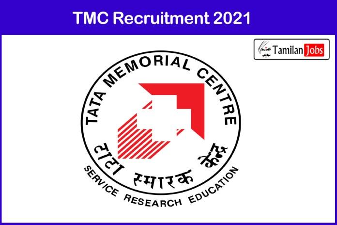 TMC Recruitment 2021 Out – Apply Online 31 Professor, Assistant Professor Jobs