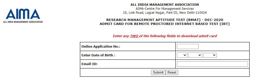 AIMA Admit Card 2021
