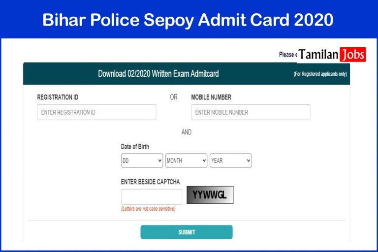 Bihar Police Sepoy Admit Card 2021 (Out) | Check Home Guard Exam Date @ csbc.bih.nic.in