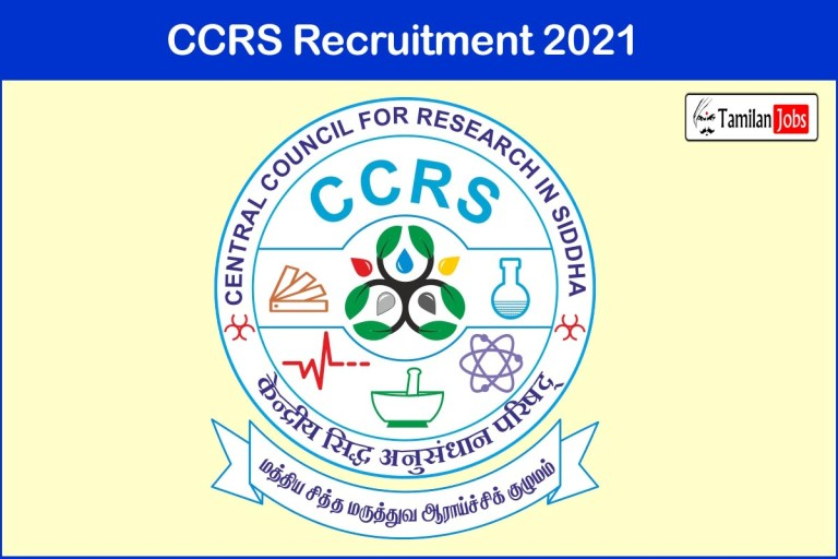 CCRS Recruitment 2021 Out – Apply Senior Research Fellow Jobs