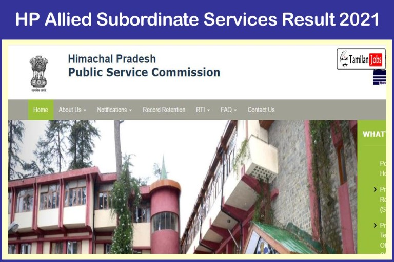 HPPSC Allied Subordinate Services Final Result 2021 (Out) | Cut Off Marks, Merit List