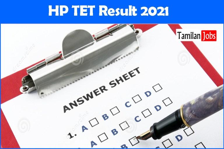HP TET Result 2021 PDF | Download Teachers Eligibility Test Cut Off, Merit List @ hpbose.org