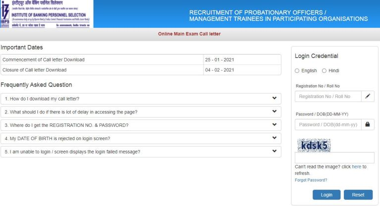 IBPS PO Mains Admit Card 2021 (OUT), CRP MT X Posts Exam Date @ ibps.in