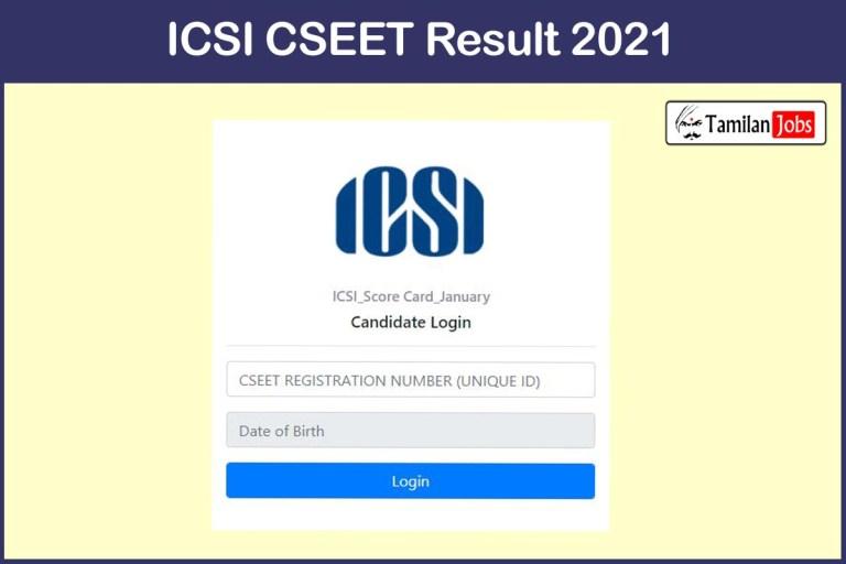 ICSI CSEET 2021 result announced   Check Here
