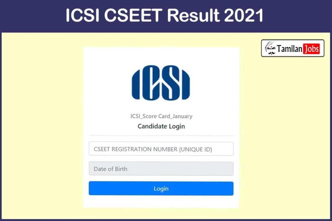 ICSI CSEET Result 2021