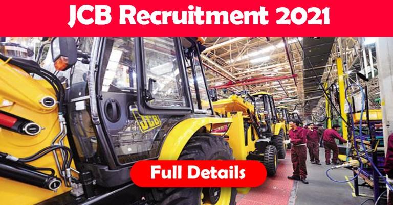 JCB Recruitment 2021: Fresher & experienced Job Openings
