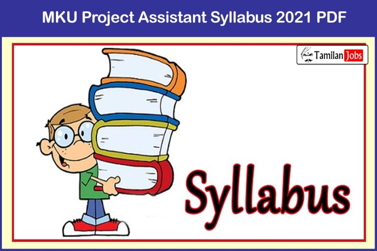 MKU Project Assistant Syllabus 2021 PDF | Download Exam Pattern @ mkuniversity.ac.in