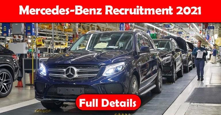 Mercedes-Benz Recruitment 2021: Fresher & Experienced Job Openings
