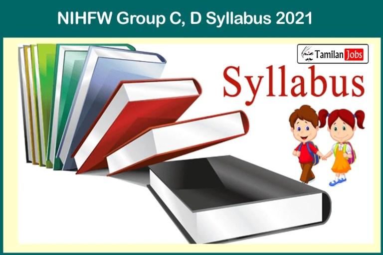NIHFW Syllabus 2021 & Exam Pattern PDF Download @ nihfw.org