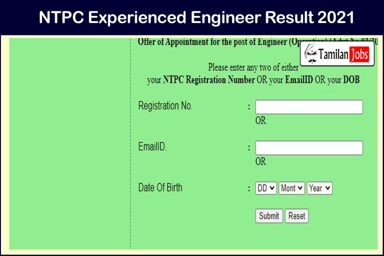 NTPC Engineer Result 2021 OUT | Cut Off Marks, Merit List @ www.ntpc.co.in