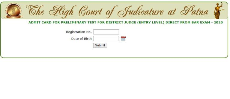 Patna High Court District Judge Admit Card 2021 (OUT), Exam Date