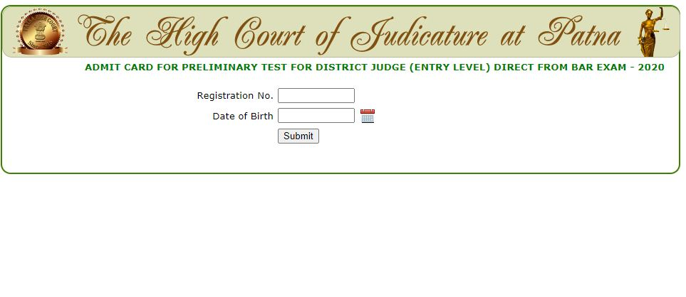 Patna High Court District Judge Admit Card 2021