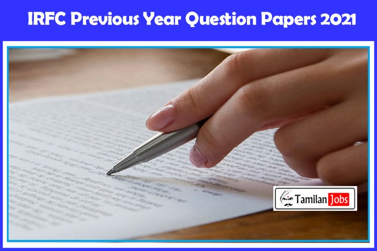 IRFC Previous Year Question Papers PDF | Download @ www.irfc.nic.in