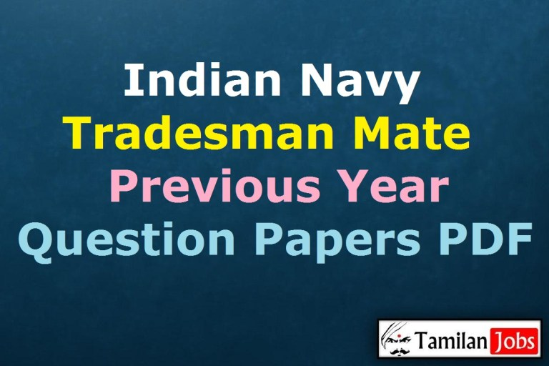 Indian Navy Tradesman Mate Previous Year Question Papers PDF
