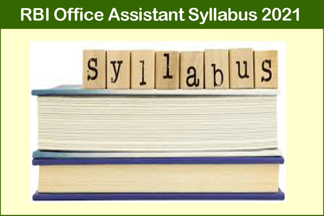 RBI Office Assistant Syllabus 2021