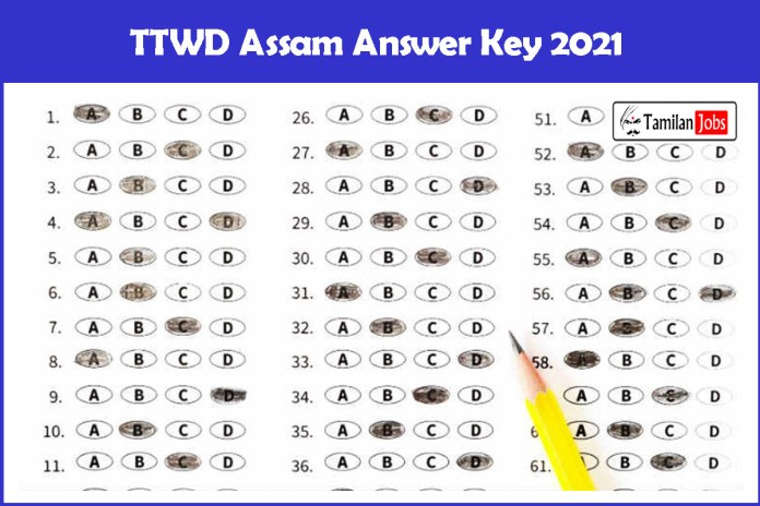TTWD Assam Answer Key 2021 PDF (Released Soon) |  Check Details Here