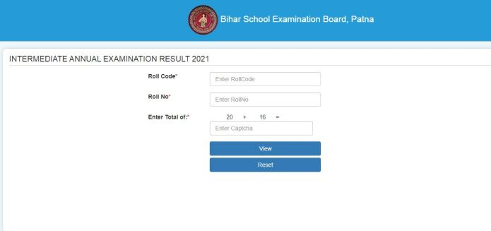 Bihar Board 12th Result 2021 (Released) @ biharboardonline.com