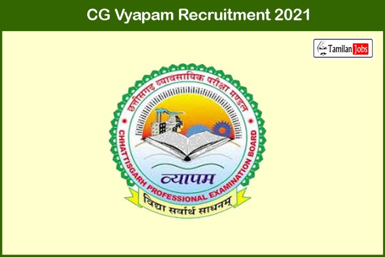 CG Vyapam Recruitment 2021 Out – Apply Online 168 Sub Inspector Jobs
