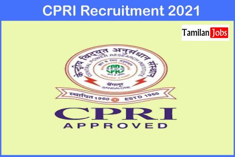 CPRI Recruitment 2021 Out – Apply 25 Stenographer Jobs