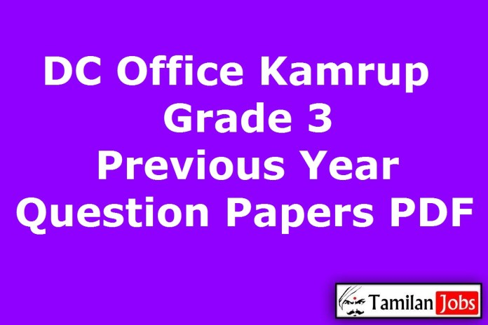 DC Office Kamrup Grade 3 Previous Question Papers PDF, Stenographer, Junior Assistant Old Papers
