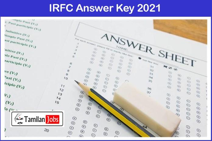 IRFC Answer Key 2021 PDF | Private Secretary Exam Key, Objections @ irfc.nic.in