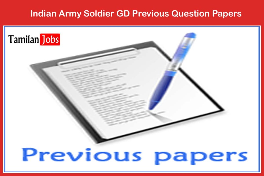 Indian Army Soldier GD Previous Question Papers