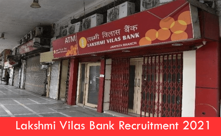 Lakshmi Vilas Bank Recruitment 2021 – Apply Online Fresher job Openings