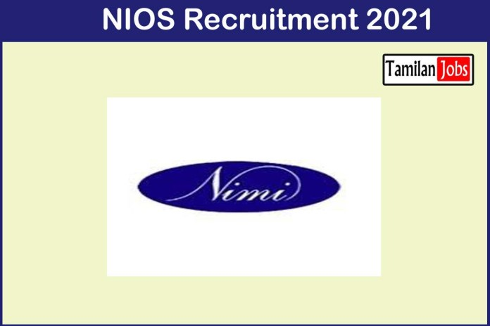 NIMI Recruitment 2021 Out – Apply 22  Consultant Jobs