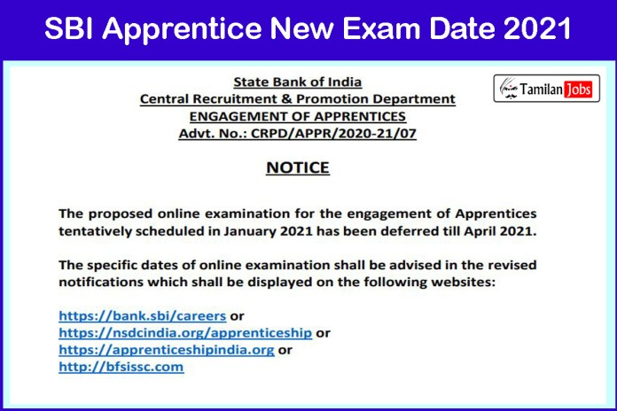 SBI Apprentice 2021 New Exam Date Announced @sbi.co.in | Check Details Here