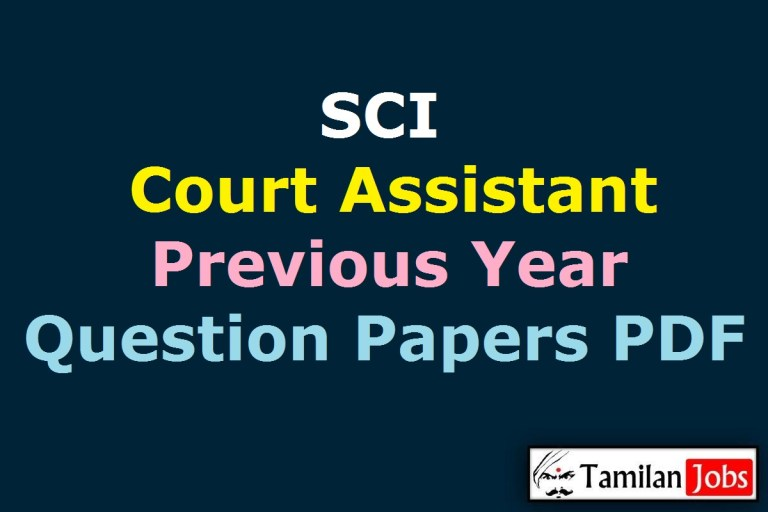 Supreme Court of India Court Assistant Previous Question Papers PDF