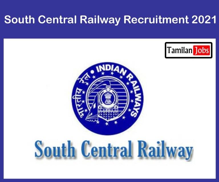 South Central Railway Recruitment 2021 – Apply 4103 Diesel Mechanic Jobs