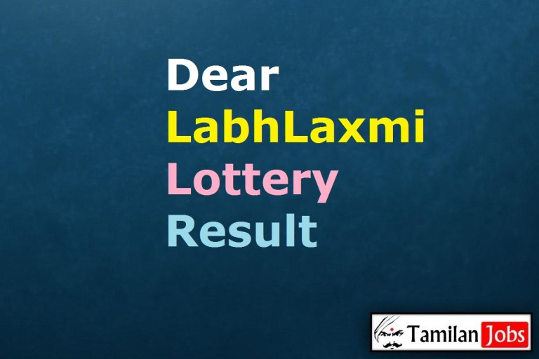 Dear LabhLaxmi Lottery Result Today 4.5.2021, 6 PM, Sikkim State Lottery