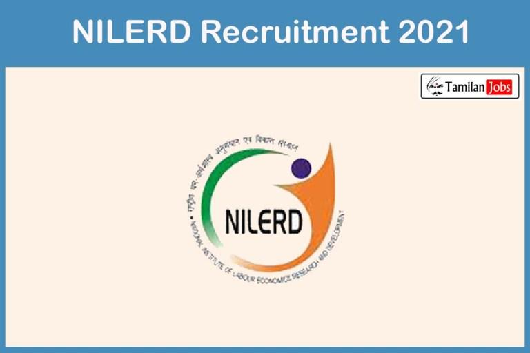 NILERD Recruitment 2021 Out – Apply Offline 17 Assistant Director Jobs