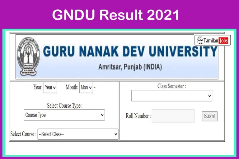 GNDU Result 2021 (New) | Check UG/ PG Results Now!!