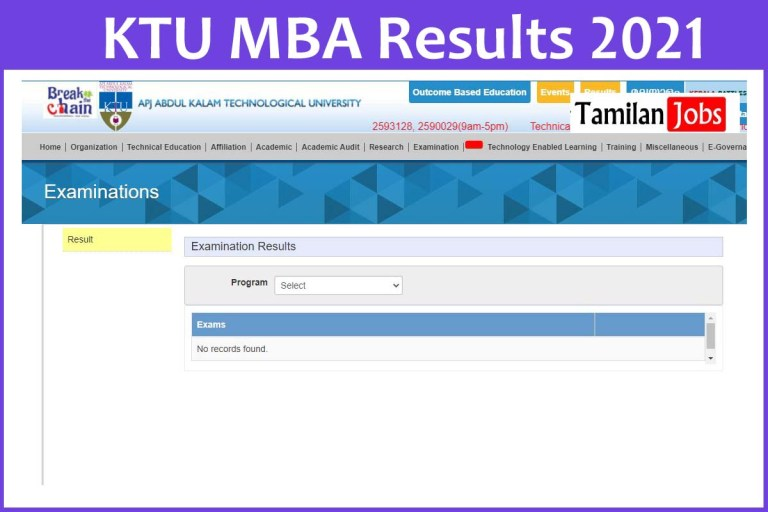 KTU MBA Results 2021 (Available) | Check @ ktu.edu.in