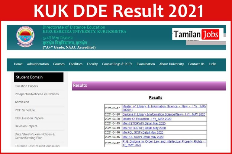 DDE KUK Result 2021  Check UG Mark Sheet Directly from this article!