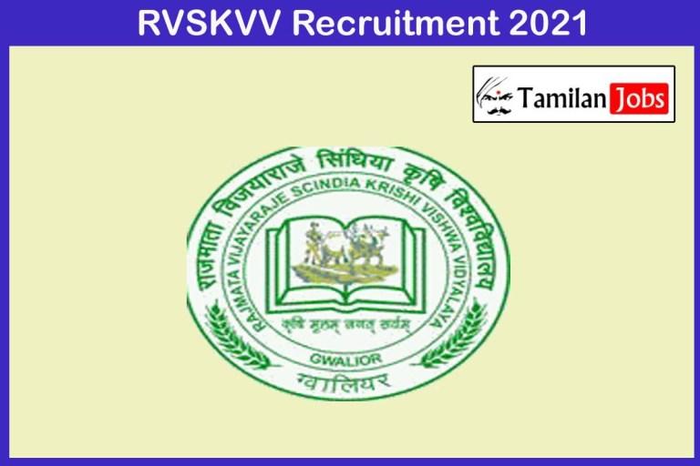 RVSKVV Recruitment 2021 Out – Apply Online 54 Driver Jobs