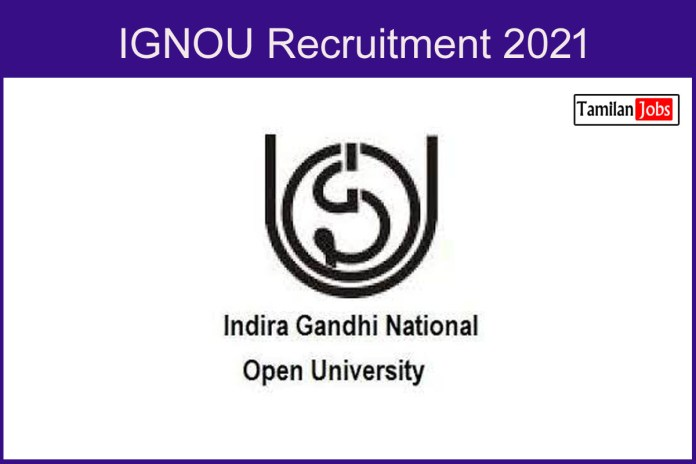 IGNOU Recruitment 2021 Out – Apply Online 10 Field Investigator Jobs
