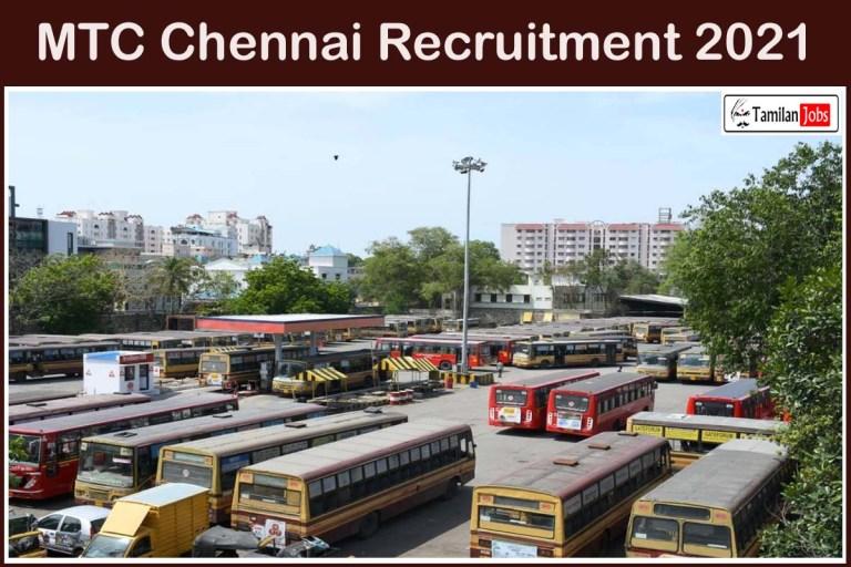MTC Chennai Recruitment 2021 Out – Apply Online 325 Diesel Mechanic Jobs