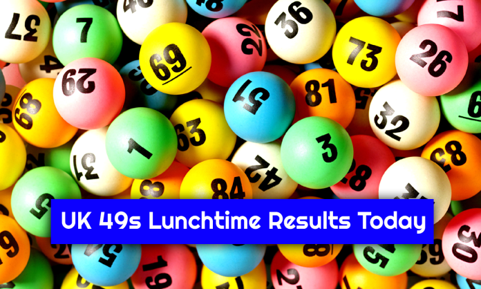 UK 49s Lunchtime Result Today 26.10.2021 Check 49's Winning Numbers