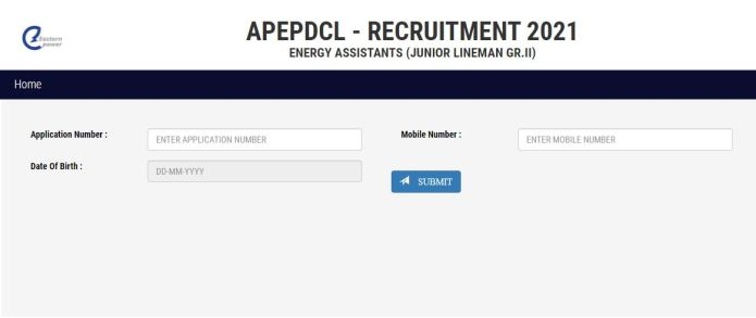 APEPDCL JLM Hall Ticket 2021 Out for Energy Assistant Physical Test