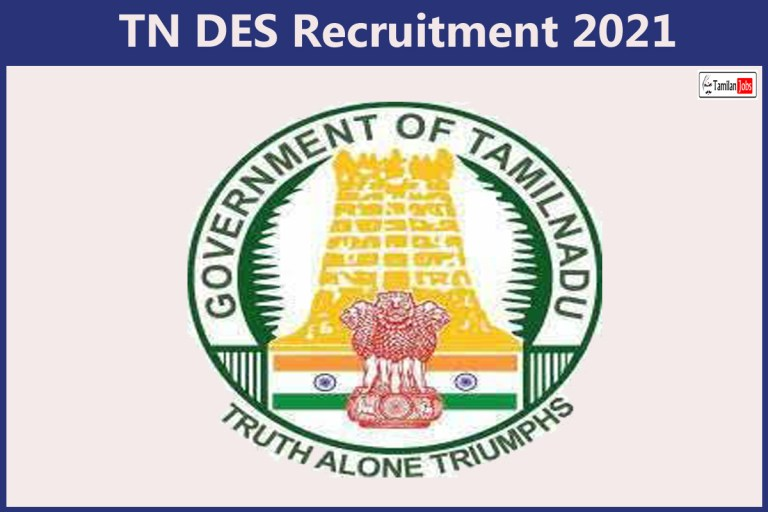 TN DES Recruitment 2021 Out – Apply For 11 Office Assistant Jobs