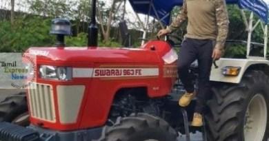 தோனி டிராக்டர் ஓட்டும் வீடியோ ஒன்றை CSK தனது இன்ஸ்டா பக்கத்தில் பதிவிட்டுள்ளது