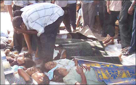 Sri Lanka Air force kills 61 school children and wounds 129 in Vallipunam,  14 August 2006 [TamilNet, August 14, 2006 04:15 GMT]