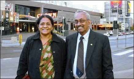 Mr. Joseph Pararajasingham with his wife Mrs. Sugunam  Pararajasingam