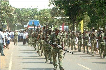 Funeral procession of LTTE Brigadier Balraj