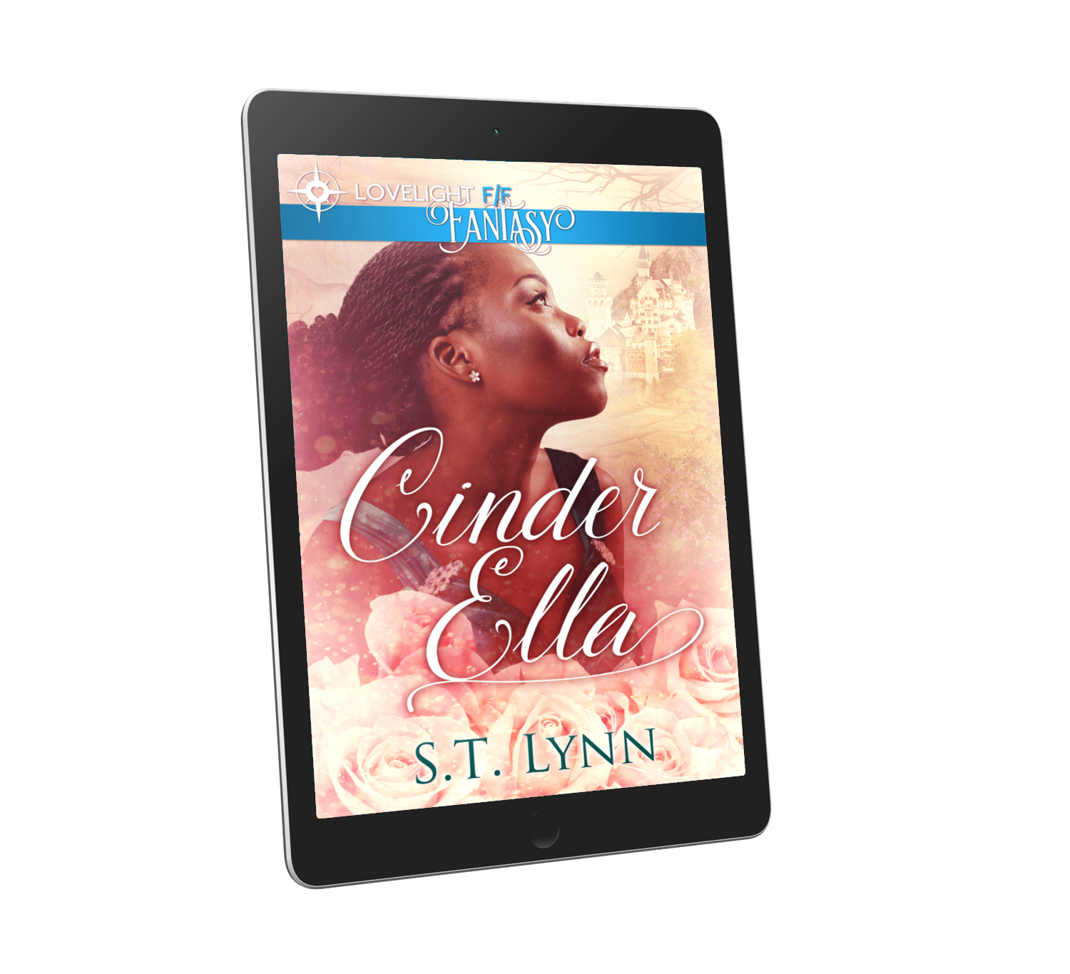 Cinder Ella Cover Art on a Kindle